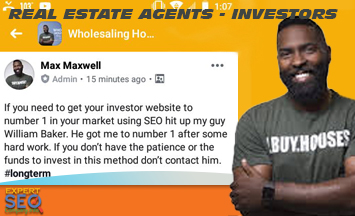 SEO For Real Estate Agent and REI Real Estate Investors